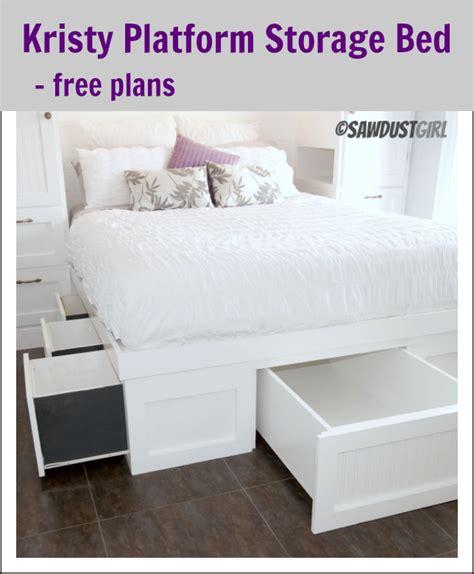 woodwork plans building  platform bed  storage  plans