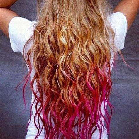 Blond Hair Pink Tips Fashion Pinterest My Hair