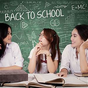High School Students Talking in Class - Asian Stock Photos