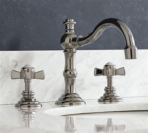 cross handle shower faucet langford cross handle widespread bathroom faucet pottery