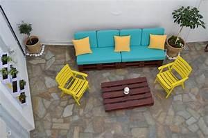 Salon De Jardin En Palette Moderne : salon de jardin en palette une solution colo offrant de ~ Melissatoandfro.com Idées de Décoration