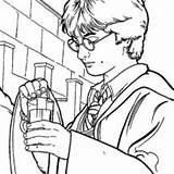 Potter Harry Coloring Potion Polyjuice Netart sketch template