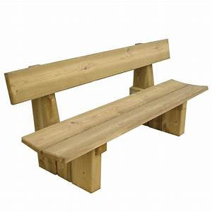 Fabriquer Un Banc D Interieur : banc public en bois 4 places doublet ~ Melissatoandfro.com Idées de Décoration