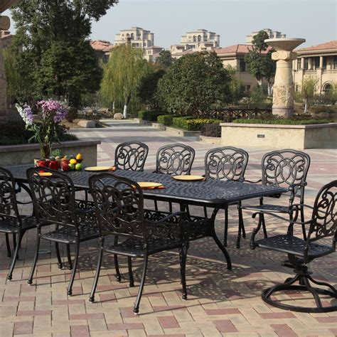 darlee florence 10 person cast aluminum patio dining set