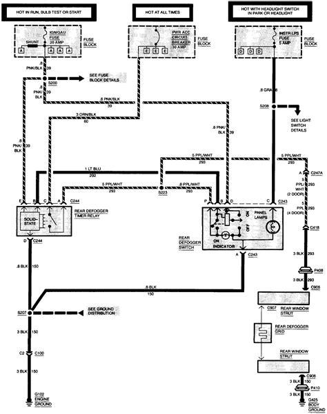 S10 Power Window Wiring Diagram wiring diagram blazer s10 1994 aux like rear defog etc