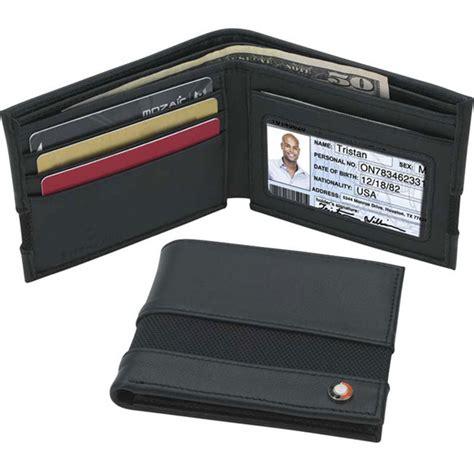 Custom Bi Fold Badges Add Text Logo Artwork Info Promotional Bi Fold Neck Wallet Usimprints