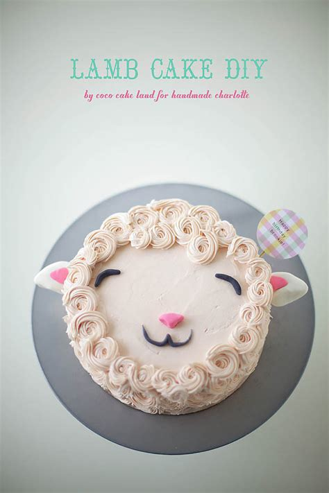 diy fluffy lamb cake decorating tutorial handmade charlotte