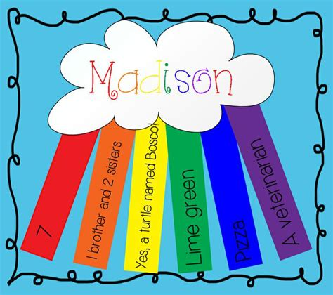 back to school art projects for preschoolers all about me rainbow day of school activity 190