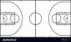Diagram  Basketball Half Court Diagram