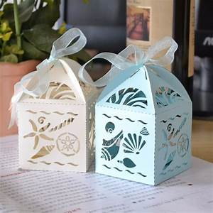 Sandy beach wedding favorsquotbeach treasuresquot favor boxes for Beach themed wedding favors