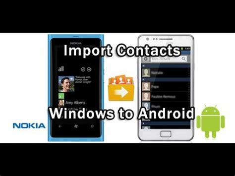 how to transfer contacts from one android to another how to transfer contacts from windows phone to android