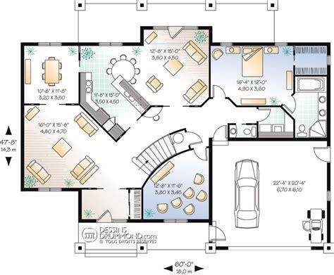 plan maison plain pied 3 chambres 100m2 plan maison californien moderne