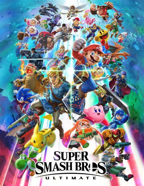 Super Smash Bros Ultimate Box Art Video Game Archive