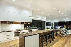 White Kitchen Open Concept - Interior Design