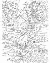 Coloring Mill Dover Publications Scenes Colouring Country Adult Adults Printable Sheets Welcome Spring Doverpublications Paint Scene Landscape Designlooter Farm 51kb sketch template
