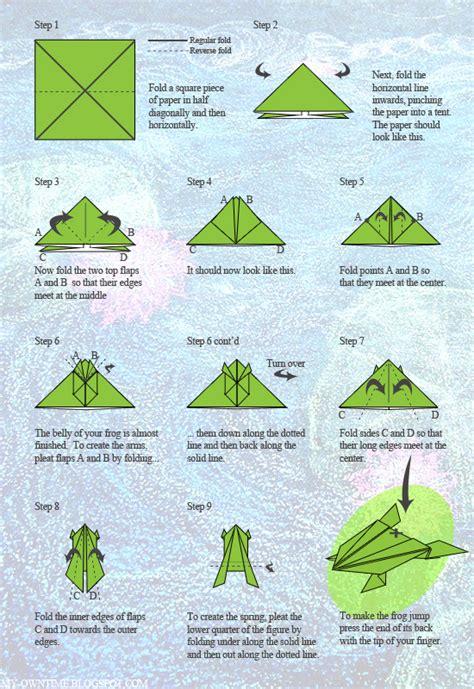 jumping origami frog ava
