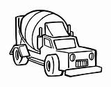 Truck Cement Mixer Coloring Drawing Trucks Pages Coloringcrew Getdrawings sketch template