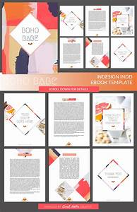 Boho babe indesign ebook template by coral antler creative on creativemarket ebook inspo for Indesign presentation templates