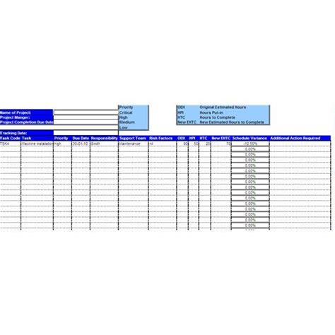 sample project tracking sheet  explanation