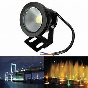 Outdoor v underwater fountain waterproof w led flood