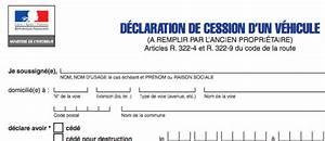 Déclaration D Achat De Véhicule : d claration de cession d 39 un v hicule ~ Medecine-chirurgie-esthetiques.com Avis de Voitures