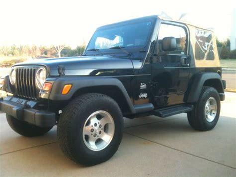 jeep sahara black 2 door sell used 2003 jeep wrangler sahara sport utility 2 door 4