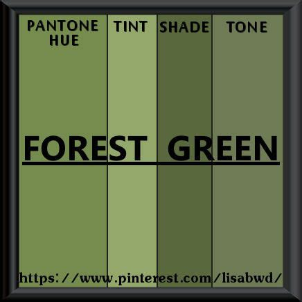 pantone seasonal color swatch forest green green for the