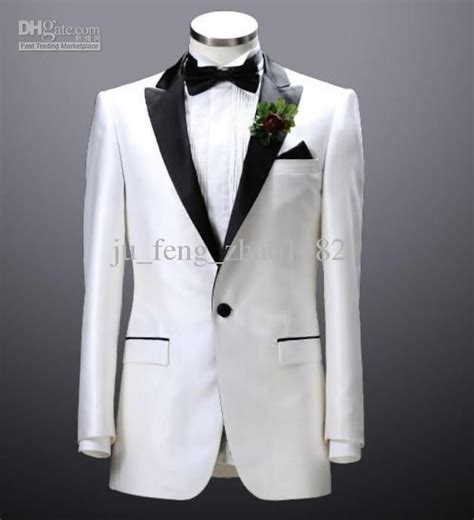 white groom tuxedos  mens suits groomsman formal