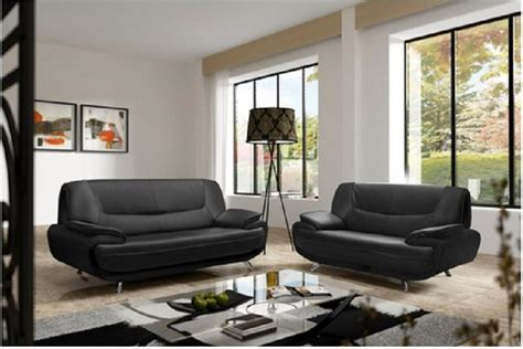 canape noir et blanc cuir photos canapé noir et blanc simili cuir