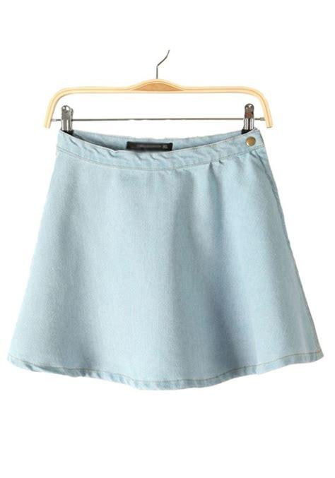 light blue jean skirt blue skirt dressed up