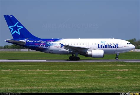 c gtsf air transat airbus a310 at dublin photo id 215632 airplane pictures net
