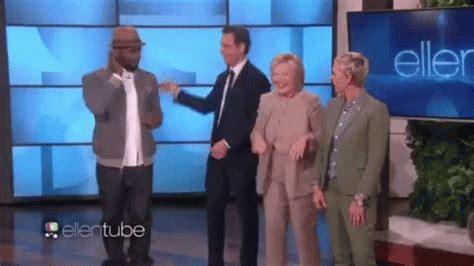 Popular Hillary Clinton Dab Ellen Degeneres GIF   Dab