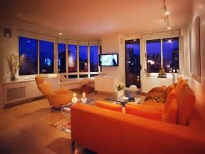 Orange Livingroom Contemporary Living Space Photos Hgtv