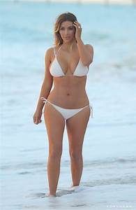 Kim Kardashian White Bikini Pictures After Baby | POPSUGAR ...