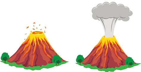 Volcano Clip Volcano Clipart Erruption Pencil And In Color Volcano