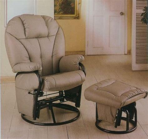 black friday bone leatherette glider rocker recliner chair