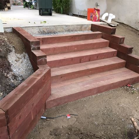 landcape steps  retaining walls