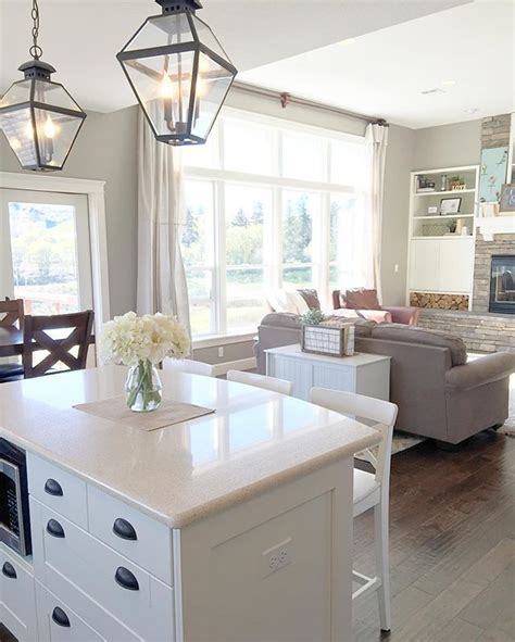 farmhouse style kitchen islands white farmhouse kitchen island with lantern pendants 7166