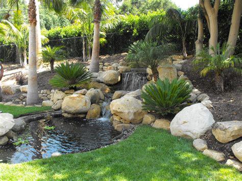 garden koi pond design small garden ponds in santa barbara garcia rock and water design blog