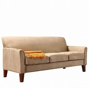 Oxford creek park hill sofa in peat microfiber home for Sectional sofas from sears