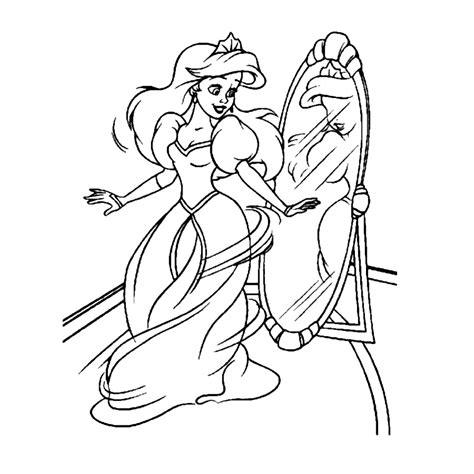 Kleurplaat Prinses Zemeermin by Ariel De Kleine Zeemeermin Kleurplaten