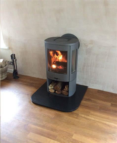 Contura 850 with rear flue wood burning stove installation