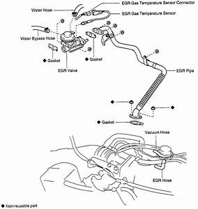 Cannot Find Egr Valve On 1995 Toyota T100 V6