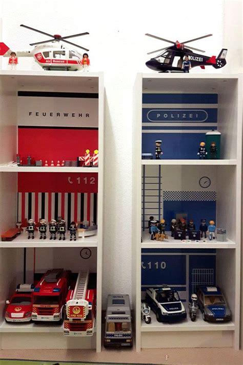 Kinderzimmer Regal Ikea by Ikea Kinderzimmer Feuerwehr Und Polizei Mit Billy Regal