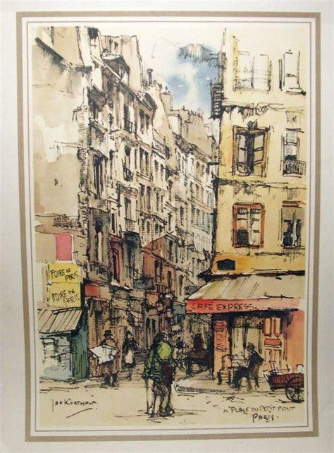 jan korthals vintage original  print  big ben