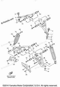 Yamaha Atv 2008 Oem Parts Diagram For Front Suspension