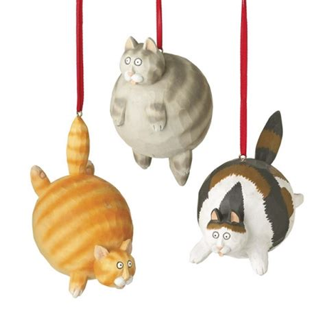 fat cat ornaments by midwest cbk