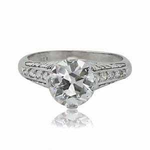 200 carat vintage diamond engagement ring estate With vintage diamond wedding ring