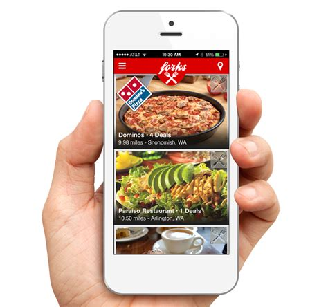 applications cuisine forks e coupon mobile app puts fast food where your