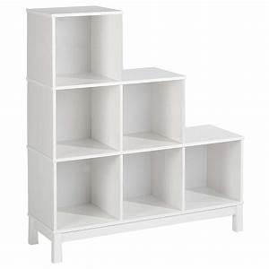 Etagère Et Casier à Chaussures : etag re escalier en pin logo 6 casiers lasur blanc ~ Dallasstarsshop.com Idées de Décoration
